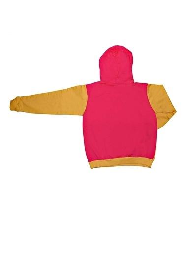 Çikoby Çikoby Kız Çocuk Baskılı Kapşonlu Sweatshirt C19W-CK3914 Renkli